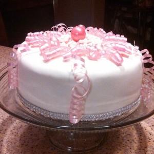 Pink Princess Ribbon Cake Bling