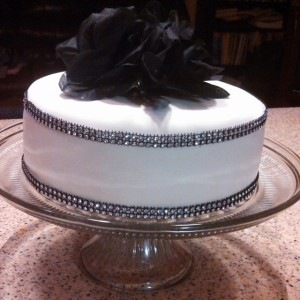 Whit Chocolate Black and White Bling